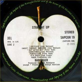 Straight Up - B-Side Label