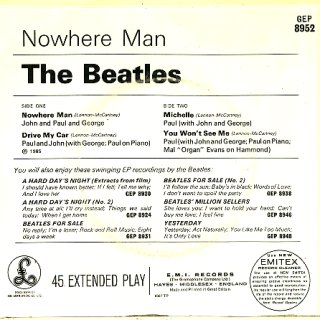 Nowhere Man - Rear Cover