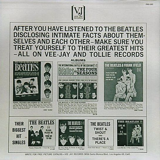 Hear The Beatles Tell All - Rear Cover