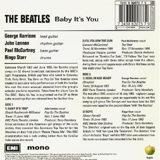 Baby It's You - Rear