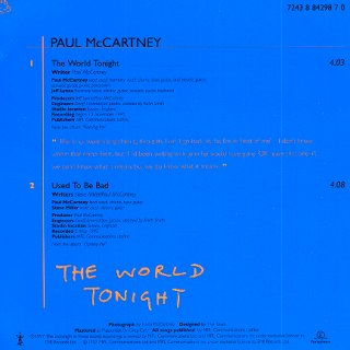 The World Tonight - Rear Cover